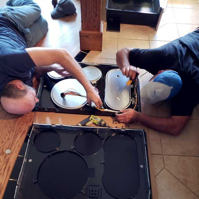 Cooktop diagnostics and repair by Able and Ready Appliance Repair